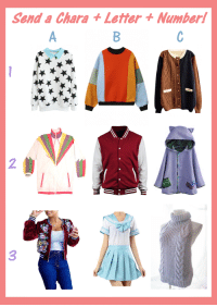 """<p><a href=""""http://dailymomcellati.tumblr.com/post/159375245707/a-lot-of-these-have-mostly-feminine-clothing-so-i"""" class=""""tumblr_blog"""" target=""""_blank"""">dailymomcellati</a>:</p><blockquote><p>A lot of these have mostly feminine clothing, so I decide to switch it up and add a broader range of clothes I could see all sorts of people wearing! <strike>And yes, that includes the seifuku and vk sweater</strike> ^^;</p></blockquote>: Send a Chara + Letter t Number!  2  3 <p><a href=""""http://dailymomcellati.tumblr.com/post/159375245707/a-lot-of-these-have-mostly-feminine-clothing-so-i"""" class=""""tumblr_blog"""" target=""""_blank"""">dailymomcellati</a>:</p><blockquote><p>A lot of these have mostly feminine clothing, so I decide to switch it up and add a broader range of clothes I could see all sorts of people wearing! <strike>And yes, that includes the seifuku and vk sweater</strike> ^^;</p></blockquote>"""