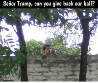 Memes, 🤖, and Futball: Senor Trump, can you give back our ball? Mexicans be like.....😂😂 Follow @memes.futbal