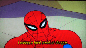 Smell, Tumblr, and Blog: sense a faint smell of danger pantasticanxiety:  gifmovie: Spiderman GIFs me