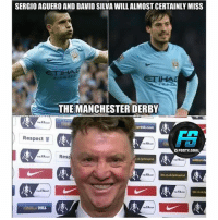 Memes, Respect, and Goal: SERGIO AGUERO AND DAVID SILVA WILLALMOST CERTAINLY MISS  THE MANCHESTER DERBY  Respect  FDOTY.GOAL  FARes  HILL  FAca @footy.goal
