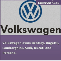 Memes, Porsche, and Lamborghini: SERIOUSFACTS  Volkswagen  Volkswagen owns Bentley, Bugatti,  Lamborghini, Audi, Ducati and  Porsche