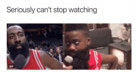 Basketball, Gif, and Nba: Seriously can't stop watching  GIF They both are in sync 😂 nbamemes harden nba (via JasmineLWatkins-Twitter)