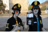 Click, Gif, and God: serpuns-a-lot:  Thii2 ii2 the troll poliice! You have the riight to- … God dammiit Terezii not agaiin! Trollcop!Sollux: me Trollcop!Terezi:Fejc cameraman:Marvi (We had to make this gif into two parts, because of stupid tumblr size limits. If you want to see the gif whole, just clickhere!)