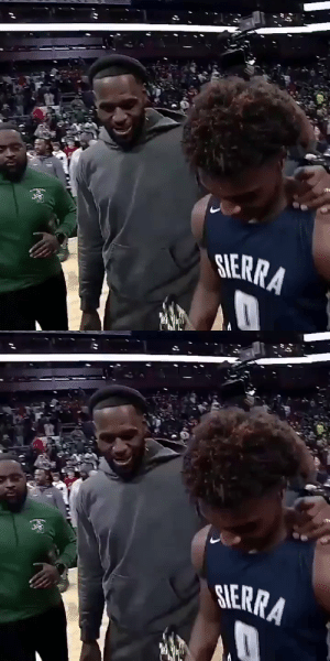 Proud Dad LeBron with MVP Bronny! https://t.co/FJWXldgaF2: SERRA   SIERRA Proud Dad LeBron with MVP Bronny! https://t.co/FJWXldgaF2