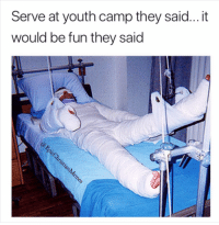 Church, Hilarious, and Youth: Serve at youth camp they said... it  would be fun they said 8 Hilarious Church Camp Experiences That Are Just Too Real