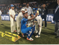 Memes, Match, and 🤖: SERVO  stm  of Cement  illwaTanh Hardik Pandya with ball boys after finishing off the match