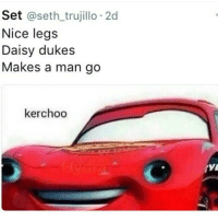 OH BOY: Set  @seth trujillo 2d  Nice legs  Daisy dukes  Makes a man go  kerchoo OH BOY