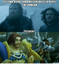 Night king > Lich King  Jk Jplusl: SETTING ASIDE YOUR DIFFERENCES TO REPEL  THE UNDEAD  JPIUSUNMEMES  made on imgur Night king > Lich King  Jk Jplusl