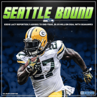 Memes, 🤖, and Marketing: SETTLE  EDDIELACY REPORTEDLY AGREES TO ONE-YEAR, $5.55 MILLION DEAL WITH SEAHAWKS  O CBS SPORTS  VIA ADAM SCHEFTER One more running back is off the market. Eddie Lacy is heading to the Seattle Seahawks.