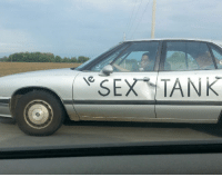 Bernie Sanders, Sex, and Vermont: SEX TANK Bernie Sanders leaving his state of Vermont (1960, colorized)