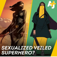 SEXUALIZED VEILED  SUPERHERO? This Muslim artist wasn't feeling the sexualized portrayal of a niqabi superhero, so she decided to show us how it's done.