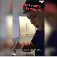 Bad, Memes, and Party: SGNG.  ZZA PARTY  DAY WHOO!!!  So many orders sia!! Eh wait... OMGGG this Kenny and Jane really last warning sia!! HAHAHA feel so bad for Bobby can, will someone please buy him his pizza already????? 😭😭😂😂😂 pizzaislife sp