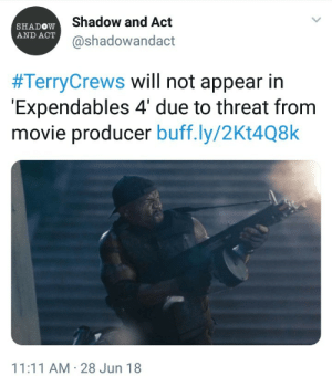 neshtasplace: commandtower-solring-go:  pink-squirl:  Terry Crews came out and admitted he had been sexually assulted by someone in the film industry, and is now being blacklisted. I have been a fan of his since Idiocracy, and will continue to support all of his work.  So when you wonder why people don't come forward with their assults, this is why.  Where are all the bitch men who ask about male sexual assault when the focus is on women but are dead silent when men are actually at the focus.  ^^^^^^^^^^^^^^^^^^^^^^^^^^^^^^^^^^^^^^^^^^^^^^^^^^^^^ : Shadow and Act  @shadowandact  SHADOW  AND ACT  #TerryCrews will not appear in  Expendables 4' due to threat from  movie producer buff.ly/2Kt4Q8k  11:11 AM 28 Jun 18 neshtasplace: commandtower-solring-go:  pink-squirl:  Terry Crews came out and admitted he had been sexually assulted by someone in the film industry, and is now being blacklisted. I have been a fan of his since Idiocracy, and will continue to support all of his work.  So when you wonder why people don't come forward with their assults, this is why.  Where are all the bitch men who ask about male sexual assault when the focus is on women but are dead silent when men are actually at the focus.  ^^^^^^^^^^^^^^^^^^^^^^^^^^^^^^^^^^^^^^^^^^^^^^^^^^^^^