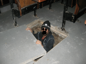 shadybacon: marcherarrant: I was exploring in the catacombs and found a ladder going up. I climbed it and found a square door. I pushed open the door and found myself inside a university lecture room at 3 in the morning.   And you chose to censor your face in the worst way imaginable : shadybacon: marcherarrant: I was exploring in the catacombs and found a ladder going up. I climbed it and found a square door. I pushed open the door and found myself inside a university lecture room at 3 in the morning.   And you chose to censor your face in the worst way imaginable
