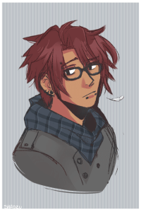 Haircut, Target, and Tumblr: shadzu:  For the anon who wanted him with glasses and piercings. Someone please give him a haircut