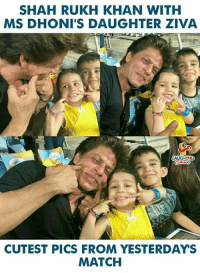 #ShahrukhKhan #MSDhoni #ZivaDhoni  #CSKVSKKR: SHAH RUKH KHAN WITH  MS DHONI'S DAUGHTER ZIVA  AUGHING  CUTEST PICS FROM YESTERDAYS  MATCH #ShahrukhKhan #MSDhoni #ZivaDhoni  #CSKVSKKR
