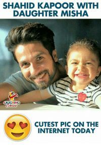 Sunday Selfie 😇: SHAHID KAPOOR WITH  DAUGHTER MISHA  LAUGHING  OCUTEST PIC ON THE  INTERNET TODAY Sunday Selfie 😇
