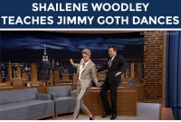 """Target, youtube.com, and Time: SHAILENE WOODLEY  TEACHES JIMMY GOTH DANCES   IG  HT <p>Next time you hit the dance floor, <a href=""""https://www.youtube.com/watch?v=EMg2Wj1vYCk&amp;index=2&amp;list=UU8-Th83bH_thdKZDJCrn88g"""" target=""""_blank"""">remember to clear the cobwebs</a>.</p>"""