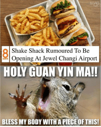 Memes, Singapore, and 🤖: Shake Shack Rumoured To Be  Opening At Jewel Changi Airport  DAYS  HOLY GUAN YIN MA!!  BLESS MY BODY WITH A PIECE OF THIS! Is the MOTHER OF ALL BURGERS finally coming to Singapore???
