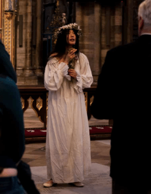 "Birthday, Hamlet, and Shakespeare: shakespearenews: Shakespeare in Westminster Abbey  Wandering down a side aisle, I was pursued by a distraught Ophelia, who clutched my sleeve with a cry of ""My lord"" and, addressing me as if I were Polonius, described Hamlet's unnerving entry into her chamber. I had to resist the temptation to respond: ""Go with me, I will go seek the king."" Later, I was confronted by an Othello who knelt before me as if I were the Duke of Venice and cried: ""Most potent, grave and reverend signior"": not the kind of thing I'm used to hearing."