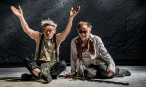 shakespearenews:  Sir Ian McKellen as King Lear, left, with Danny Webb as Gloucester. Photograph: Johan Persson. : shakespearenews:  Sir Ian McKellen as King Lear, left, with Danny Webb as Gloucester. Photograph: Johan Persson.