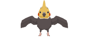 Tumblr, Blog, and Http: shalmonsdraws:  trying to make time for comfort art on the weekends~here is a low-poly cockatiel  :v