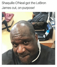I'm making this page into more than just memes, it's gonna be sports and music too, so if you don't like it then hit that mf unfollow button and leave: Shaquille O'Neal got the LeBron  James cut, on purpose! I'm making this page into more than just memes, it's gonna be sports and music too, so if you don't like it then hit that mf unfollow button and leave