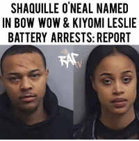 "Ass, Memes, and Party: SHAQUILLE O'NEAL NAMED  IN BOW WOW & KIYOMI LESLIE  BATTERY ARRESTS: REPORT Bow Wow and a woman named Leslie Holden were arrested on assault charges after a dispute that turned physical at a party hosted by Shaquille O'Neal at 'Shaq's Fun house'.⁣⁣ -⁣⁣ The argument started because Leslie Holden, which is Bow Wow's girlfriend, was allegedly all over Shaquille O'Neal during the party which made Bow Wow angry.⁣⁣ ⁣⁣ ""Mr. Moss [Bow Wow] stated that Ms. Holden [Leslie] was all over another man's body in the party. A man Mr. Moss referred to as Shaquille,"" the police report read. ""Mr. Moss stated that he felt very disrespected by her behavior, that the argument became heated, that Ms. Holden started yelling loudly and calling him ""bitch-ass n—–. ""⁣⁣ -⁣⁣ RapTVSTAFF: @thatkidcm"