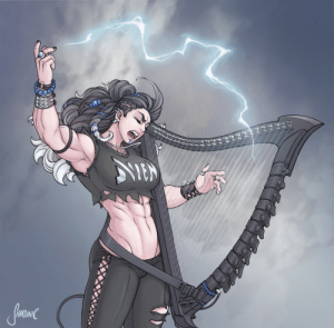 shardanic:    How about some Critical Role?   @TheVulcanSalute 's Yasha ripping on her Heavy Metal Harp  : shardanic:    How about some Critical Role?   @TheVulcanSalute 's Yasha ripping on her Heavy Metal Harp