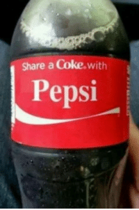 Was this a joke or someone getting fired?: share a Coke,with  Pepsi Was this a joke or someone getting fired?