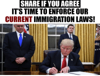 President Trump's 2017 budget includes funding for new barriers along the U.S.-Mexico border, more Border Patrol and ICE agents, and expanded detention facilities.(https://www.numbersusa.com/news/pres-trump-budget-increases-spending-immigration-enforcement): SHARE IF YOU AGREE  IT'S TIME TO ENFORCE OUR  CURRENTIMMIGRATION LAWS! President Trump's 2017 budget includes funding for new barriers along the U.S.-Mexico border, more Border Patrol and ICE agents, and expanded detention facilities.(https://www.numbersusa.com/news/pres-trump-budget-increases-spending-immigration-enforcement)
