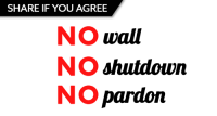 Memes, Eclipse, and Free: SHARE IF YOU AGREE  NO wall  NO shutdown  NO pardoin The solar eclipse wasn't our darkest moment this week. That award goes to Trump's rally in Phoenix.   Share to speak out: Americans WON'T tolerate a wall, we WON'T tolerate a shutdown, and we WON'T tolerate racist sheriffs getting off scot-free.