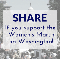 Memes, 🤖, and Washington: SHARE  If you support the  Women's March  on Washington!  EACH We stand with the women in Washington today. Do you?