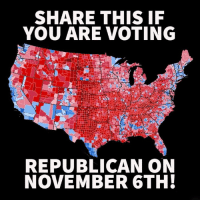 Voting Republican: SHARE THIS IF  YOU ARE VOTING  REPUBLICAN ON  NOVEMBER 6TH!
