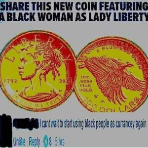 yeah ok by VamoReddits MORE MEMES: SHARE THIS NEW COIN FEATURING  A BLACK WOMAN AS LADY LIBERTY  i792  2012 ses8  SOLD  เงิ  -Icatwaltostartusingbiackpeopleascurancey again  Unlkle Reph 8 5h yeah ok by VamoReddits MORE MEMES