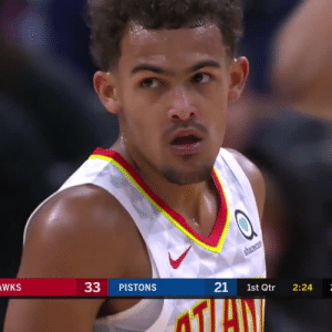 ❄️ Trae Young starts off his second season with a W and a great performance!   38 PTS 11-21 FG 6-10 3PT 10-12 FT 9 AST 7 REB   https://t.co/84HP8GK7mo: shareca  WKS  33  PISTONS  21  1st Qtr  2:24 ❄️ Trae Young starts off his second season with a W and a great performance!   38 PTS 11-21 FG 6-10 3PT 10-12 FT 9 AST 7 REB   https://t.co/84HP8GK7mo