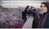 """Bitch, Muslim, and Evil: """"Sharia Law is misunderstood & has been  pushed as some evil Muslim agendo  - Linda Sarsour"""