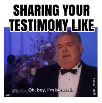 I identify with Garry-Larry-Jerry-Terry-(Barry?) and also Ann... I think I'm a mix of the two lol: SHARING YOUR  TESTIMONY LIKE  Oh, boy, I'm blessed.  NBC I identify with Garry-Larry-Jerry-Terry-(Barry?) and also Ann... I think I'm a mix of the two lol