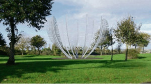 "Beautiful, Cute, and Irish: sharontates:  braaaaain:  webofgoodnews:  Irish town builds memorial to thank Native Americans who helped during Famine A sculpture of nine eagle feathers will be installed in Bailic Park, in Midleton, Co Cork to thank the Choctaw Indians for their kindness and support during the Great Irish Famine. Despite the oppression faced by the Choctaws in the years preceding the famine, on hearing of the plight and hunger of the Irish people in 1847, they raised $170 to send to the Irish people and ease their suffering. This figure is equivalent to tens of thousands of dollars in today's currency. The sculpture, consisting of nine giant, stainless steel eagle feathers, is currently being completed by Cork sculptor Alex Pentek. Speaking to the Irish Examiner, Pentek says, ""I wanted to show the courage, fragility and humanity that they displayed in my work."" Read more Webofgoodnews.com  Okay, so I saw $170 and I thought that is was a cute but largely symbolic gesture of kindness but then i actually looked up the inflation from 1847 and it turns out that it is over  $71 THOUSAND in today's money, raised by a people who themselves were enduring economic oppression. As a descendant of Irish immigrants, I can't tell you how much reverence and respect I have for the Choctaw people.  And as an Irish person, born and bred, I cannot express how deeply touched and overwhelmed with gratitude and respect I have for the Choctaw people, and in general, the Native American people. Truly a beautiful gesture during a very difficult time for us in history. It's nice to be reminded of good deeds that humanity is capable of carrying out. I'm very happy that my country created and dedicated this work of art to them. A very overdue 'Thank You' that will hopefully remain for all time."