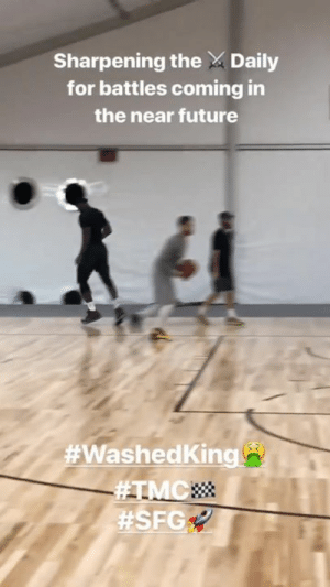 #WashedKing !?  LeBron James is on a mission 🤫: Sharpening the Daily  for battles coming in  the near future  #WashedKing !?  LeBron James is on a mission 🤫