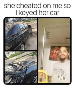 Wolverine, Her, and Car: she cheated on me so  I keyed her car What kind of wolverine keys you have bud?