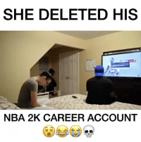 """Bitch you better do a magic trick and make my account come back""😵😭😭 How would you react? LEAVE A COMMENT👇🏼💀😂 🎮Follow my other page, no shoutouts ever 👉🏼@gamefade Partner: @thegameclips ➖➖➖➖➖➖➖ 🎮Credit; @videogames 🚀Turn on Post Notifications ❤️Double Tap ➖➖➖➖➖➖➖ ▪️Hashtags - (ignore please). CallofDuty Xbox fallout counterstrike BlackOps2 CodMemes Playstation Gamer Halo Halo5 Destiny Minecraft XboxOne Xbox360 GTA5 GTAV BlackOps3 9gag BO3 BO2 Treyarch Games VideoGames follow4follow steam csgo Memes l4l fallout4 😏Tag a friend if you see this😏: SHE DELETED HIS  NBA 2K CAREER ACCOUNT ""Bitch you better do a magic trick and make my account come back""😵😭😭 How would you react? LEAVE A COMMENT👇🏼💀😂 🎮Follow my other page, no shoutouts ever 👉🏼@gamefade Partner: @thegameclips ➖➖➖➖➖➖➖ 🎮Credit; @videogames 🚀Turn on Post Notifications ❤️Double Tap ➖➖➖➖➖➖➖ ▪️Hashtags - (ignore please). CallofDuty Xbox fallout counterstrike BlackOps2 CodMemes Playstation Gamer Halo Halo5 Destiny Minecraft XboxOne Xbox360 GTA5 GTAV BlackOps3 9gag BO3 BO2 Treyarch Games VideoGames follow4follow steam csgo Memes l4l fallout4 😏Tag a friend if you see this😏"