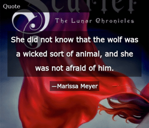 SIZZLE: She did not know that the wolf was a wicked sort of animal, and she was not afraid of him.