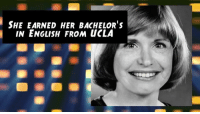 Today is the Birthday of One Day at a Time actress Bonnie Franklin (1944-2013)!: SHE EARNED HER BACHELOR's  IN ENGLISH FROM uCLA Today is the Birthday of One Day at a Time actress Bonnie Franklin (1944-2013)!
