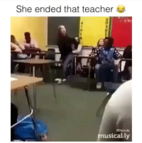 Memes, Teacher, and 🤖: She ended that teacher  elitposts  musically Do NOT follow @comedymyvideos if you aren't prepared for 18+ offensives memes 🙅🏻‍♂️🔞🖤