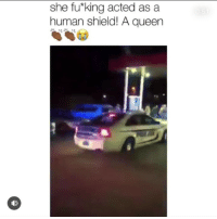 Meme, Memes, and Music: she fu*king acted as a  human shield! A queen lil Pumps meme page @ifunny is WAY better than his music 🤑 ESKETIT