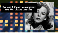 Today is the Birthday of Hollywood icon Ida Lupino (1918-1995)!: SHE GOT 2 EMMY NOMINATIONS  FOR MR. ADAMS AND EVE Today is the Birthday of Hollywood icon Ida Lupino (1918-1995)!