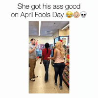 Ass, Bae, and Children: She got his ass good  on April Fools Day SHE TRIED TO GET ME FOR APRIL FOOLS!! 😭@dominique_danie YOU GOT ME FUCKED UP YOU KNOW I BE PULLING OUT EVEN THOUGH I DONT WANT TO. I AINT GOT TIME FOR NO KIDS!! 😂😂💀 COME ON @dominique_danie , LETS TAKE A TRIP 😂💀 (TAG 3 FRIENDS) ‼️👇🏼 - Follow @youloverichard (me) for more hilarious videos - - No NoPregnancyTest HellNaw YouGotMeFuckedUp Pregnant Baby Babies Kid Kids Family Children Crazy Omg What Lol WSHH Worldstar like4like like follow ig instagood bae goals girlfriend boyfriend boy girl donaldtrump @worldstar