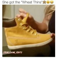 """Forgot to post this the other day🙈🙉😂 LatePost WheatThins Timbs WhatAreThose DeadAss: She got the """"Wheat Thins""""  GROB LANE EDITS Forgot to post this the other day🙈🙉😂 LatePost WheatThins Timbs WhatAreThose DeadAss"""
