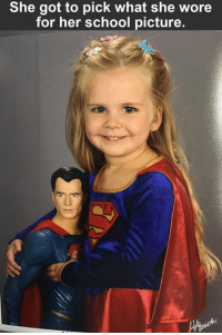 ( Scarlett ): She got to pick what she wore  for her school picture. ( Scarlett )